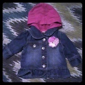 Arizona Pink Ruffle Denim Jacket Sz NB